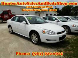 2012 Chevrolet Impala White 4 Door Car for Sale