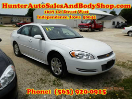 2013 Chevrolet Impala White with a Sunroof 4 Door Car for Sale